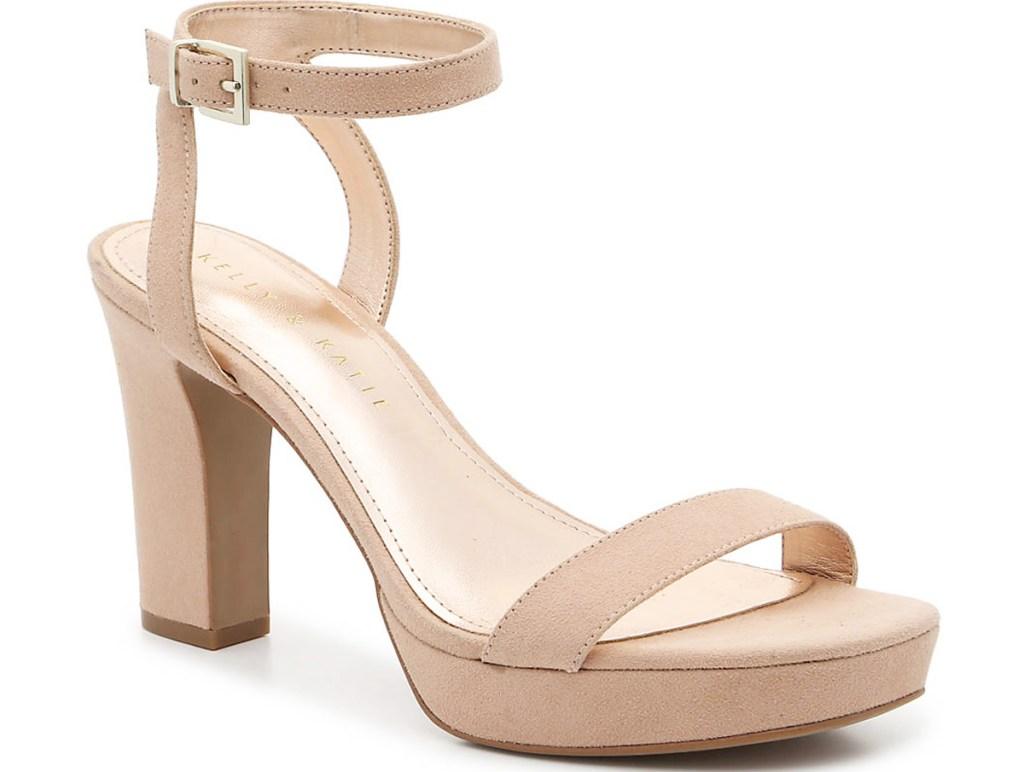 taupe colored womens platform sandal