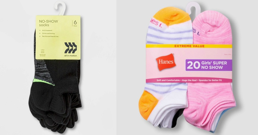two packs of kids socks