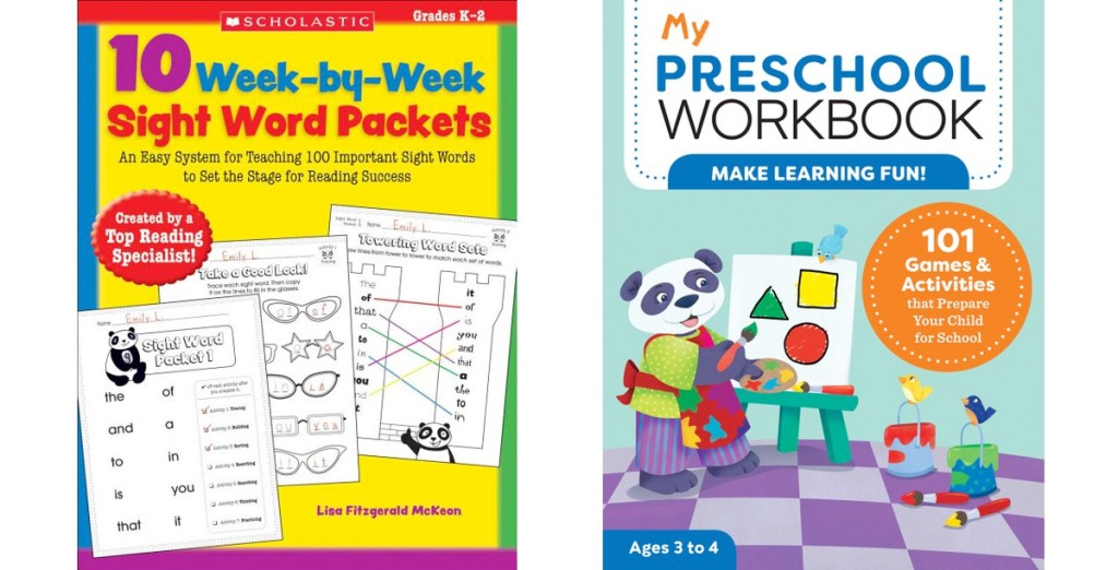 two kids workbooks covers for the books 10 week-by-week work packets and my preschool workbook