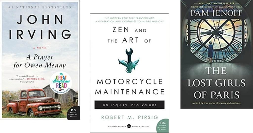 three Kindle books