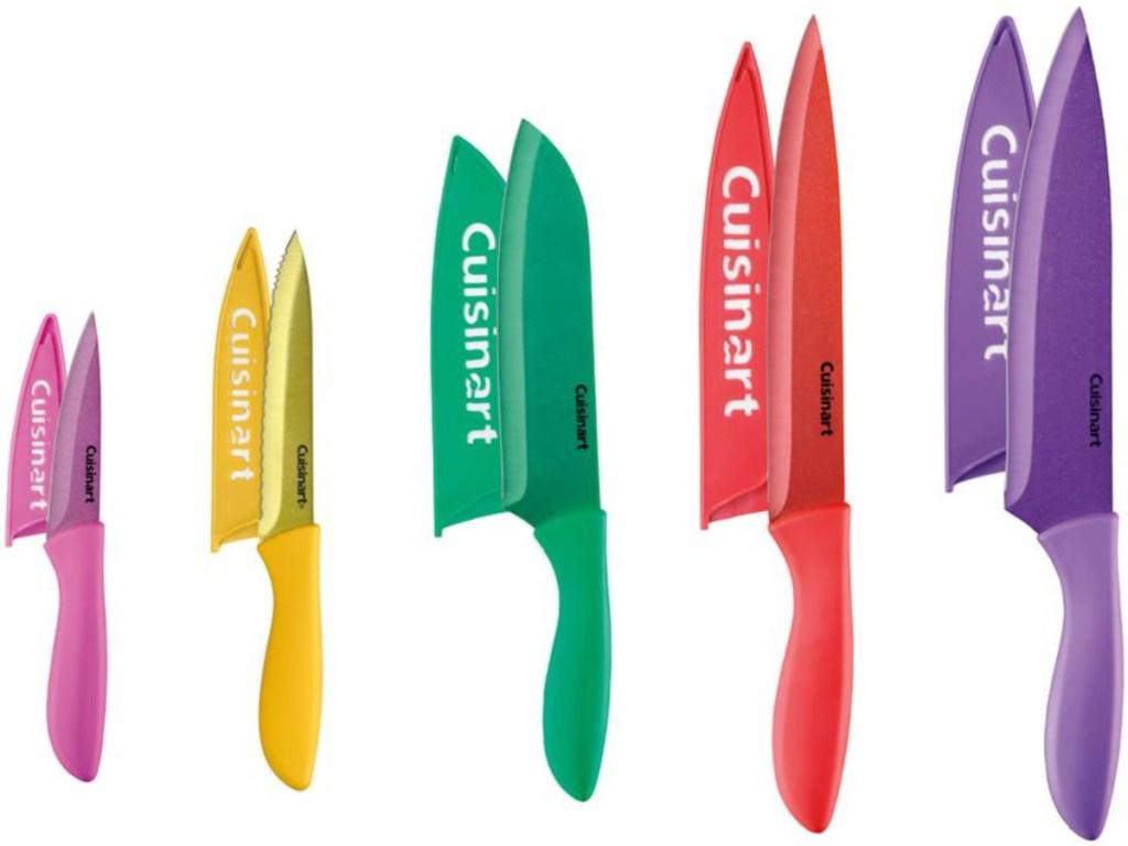 Cuisinart ceramic colorful knives