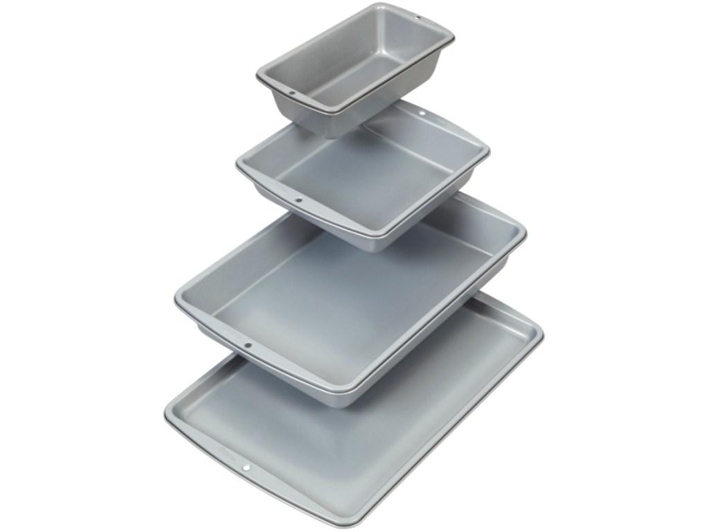 Wilton 4-piece bakeware set stacked