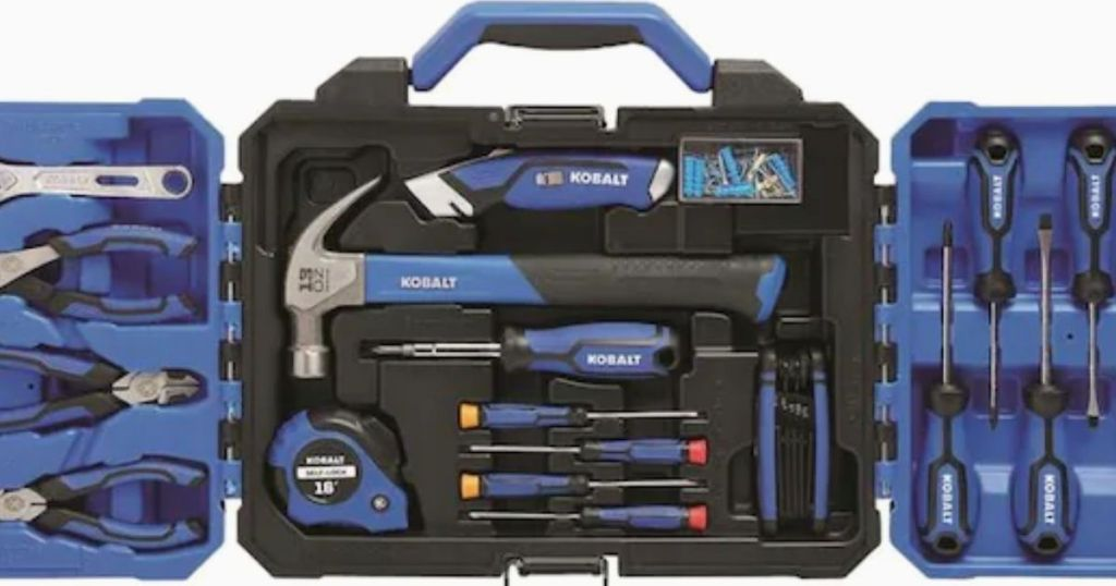 121 piece home tool kit in case