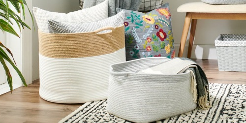 Farmhouse Storage Bins & Laundry Baskets from $7 on Kohls.com | Awesome Reviews
