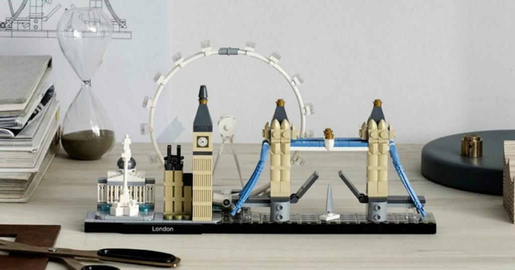 LEGO Architecture London Set built on desktop