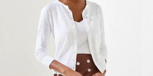 LOFT Women's 3/4 Sleeve Cardigan Only $8 (Regularly $50)