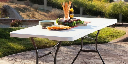Living Accents Folding Table Only $29.99 | Great for BBQs & More