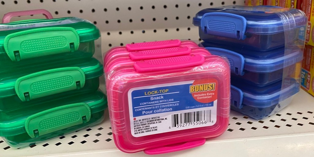 Lock Top Containers at Dollar Tree