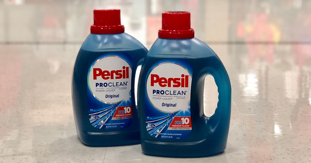 persil laundry detergent two on floor