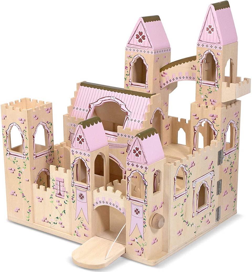 large wooden castle