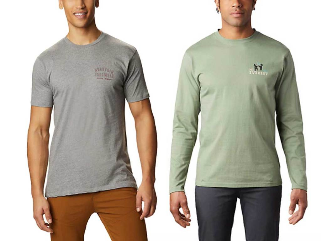 male models wearing tshirts