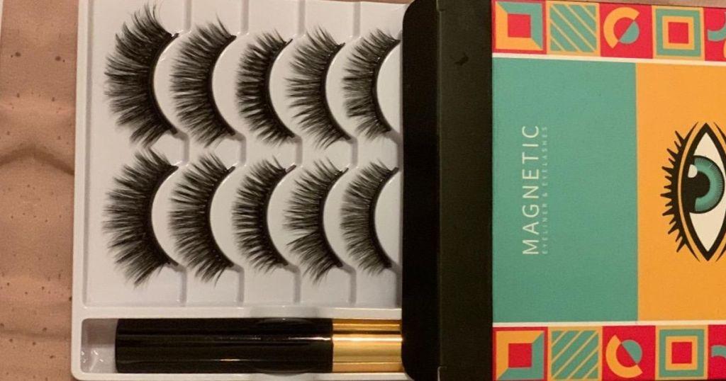 magnetic eyelash set with magnetic eyeliner