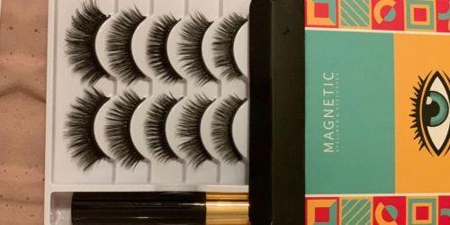 Magnetic Eyelashes 5-Pair Set Only $11.99 on Amazon | Includes Eyeliner