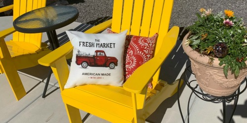 So Cute! Outdoor 16″ Throw Pillows ONLY $5 at Walmart