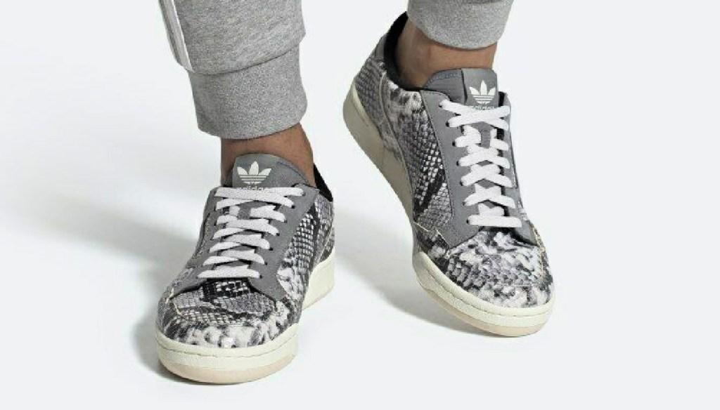 Man wearing Adidas Men's Originals Continental 80 Shoes