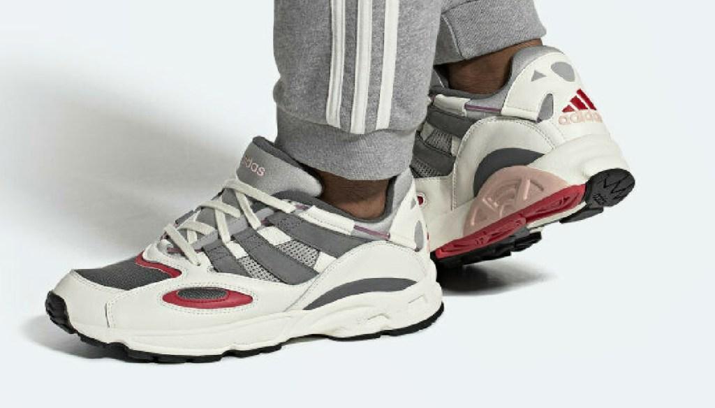 Man wearing Adidas Men's Originals LXCON 94 Shoes