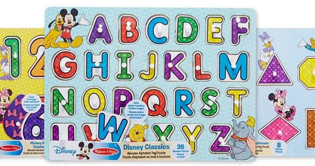 Melissa Doug Disney Peg Puzzles