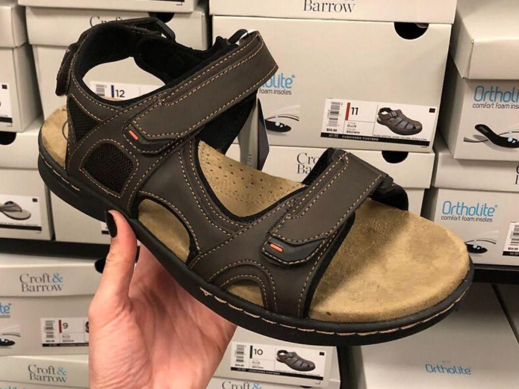 men's leather sport sandal
