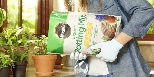 Miracle-Gro Indoor Potting Mix 6-Quart Bag Only $4.97 on Amazon