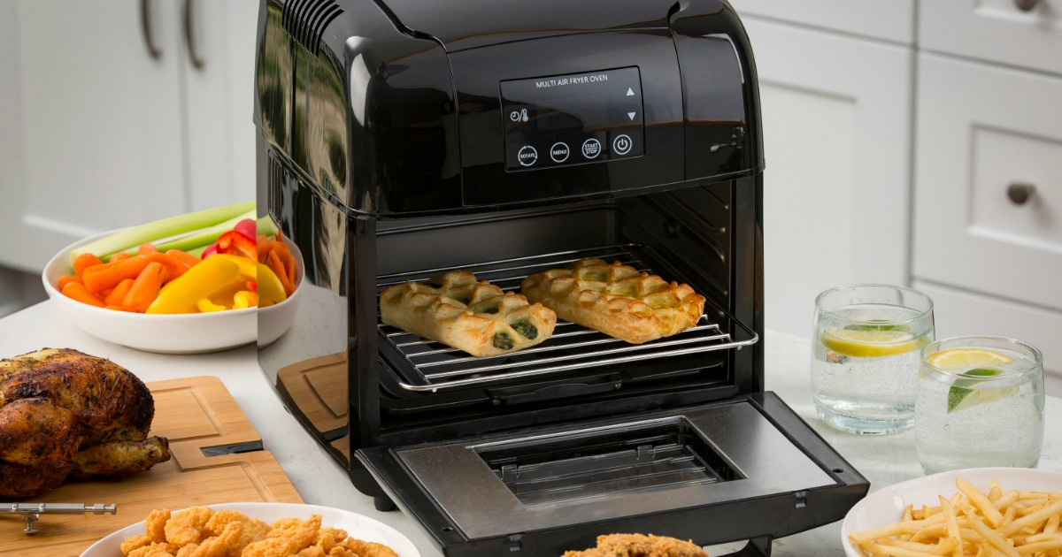 Best Air Fryer - air fryer with food in it and around it