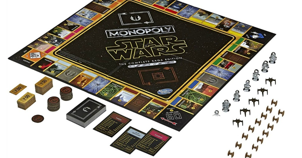 Monopoly star wars game board and pieces