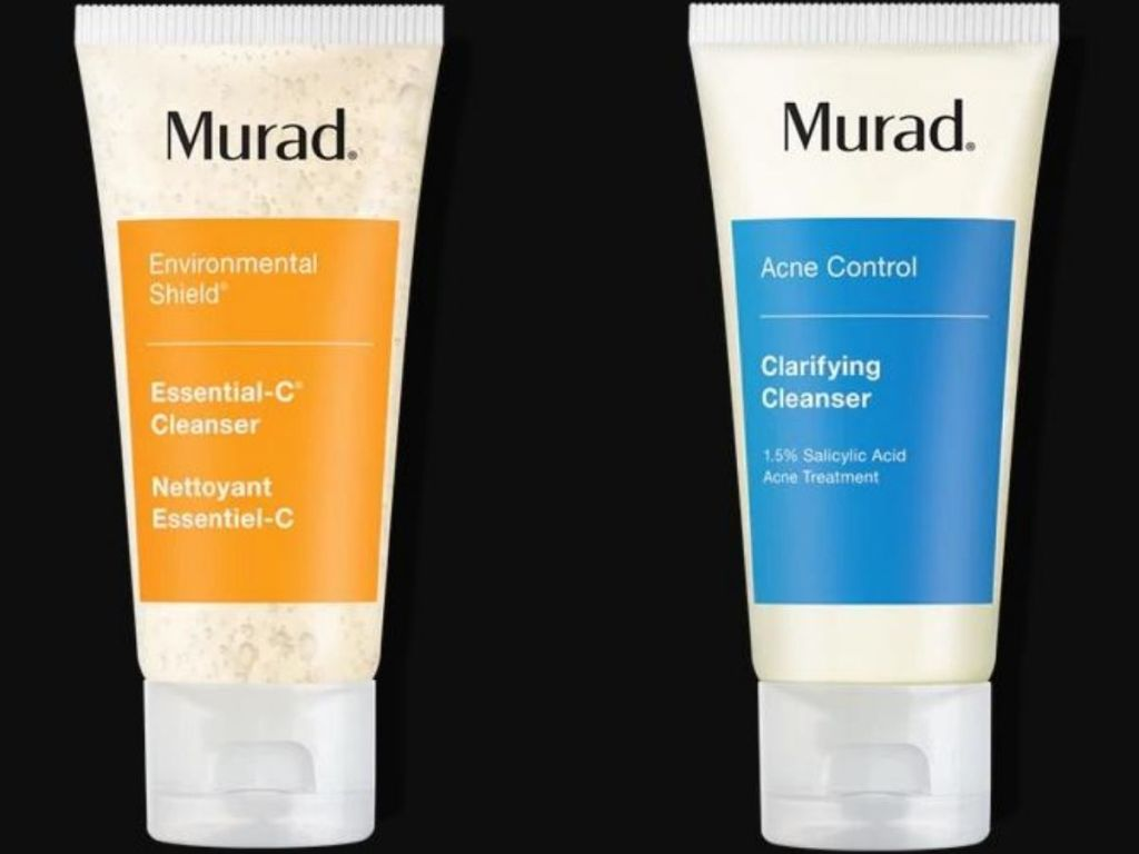 two travel size facial cleansers