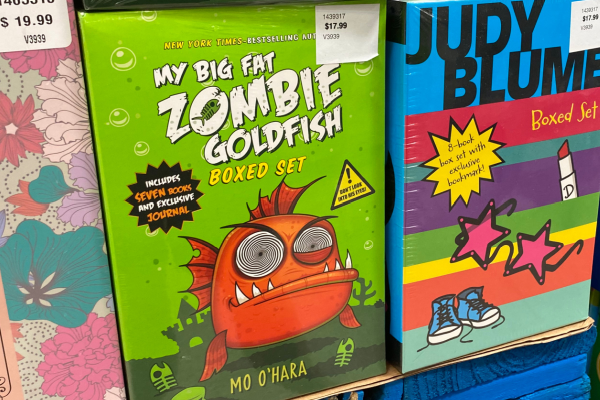 My Big Fat Zombie Goldfish Boxed Set on shelf at costco