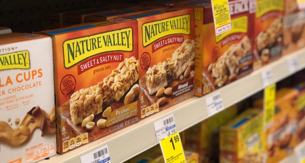 Nature Valley Granola Bars on shelf at CVS