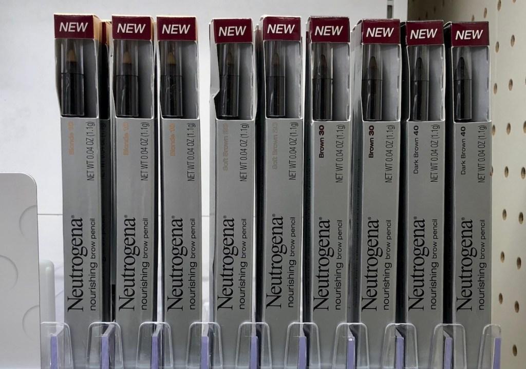 row of Neutrogena Brow Pencils
