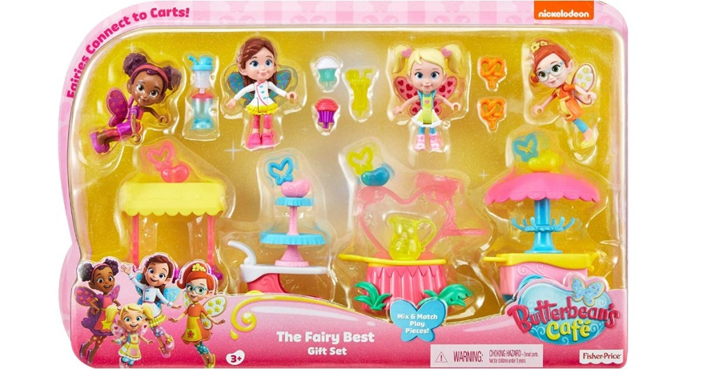 Large fairy gift set of toys and carts with accessories