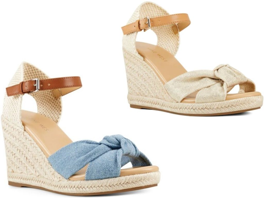 two women's wedge espadrilles