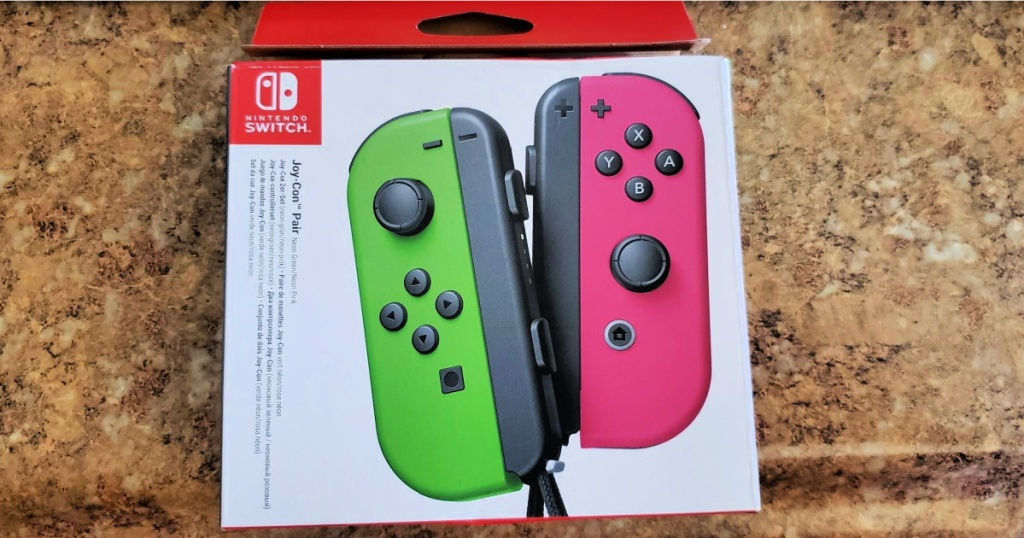 Nintendo Joy-Cons in Neon Pink and Green