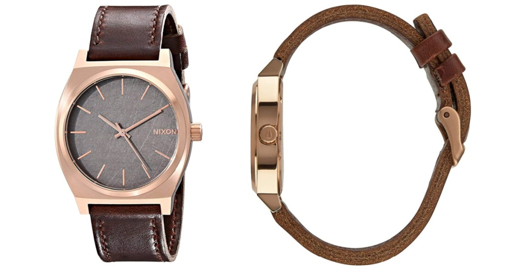 Nixon Time Teller Watch front view and side view