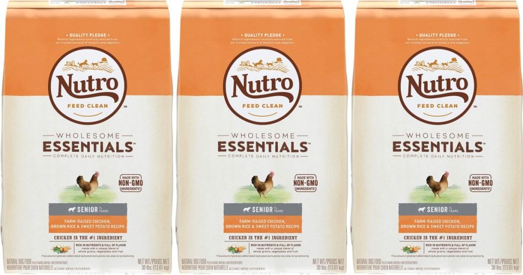 Nutro Wholesome Essentials Senior Chicken, Brown Rice & Sweet Potato Dry Dog Food 30-Pound Bag