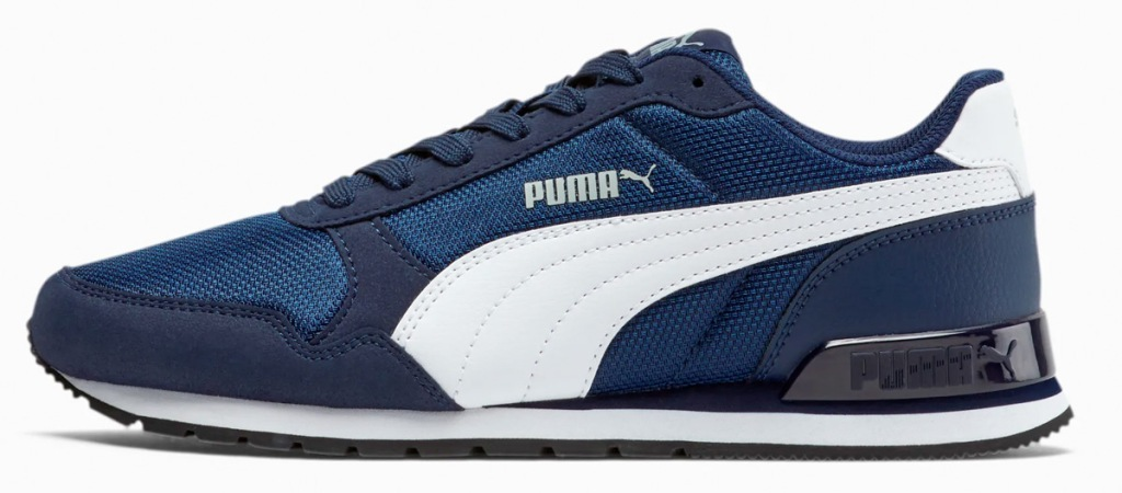 boys blue sneakers with white puma logo on sides