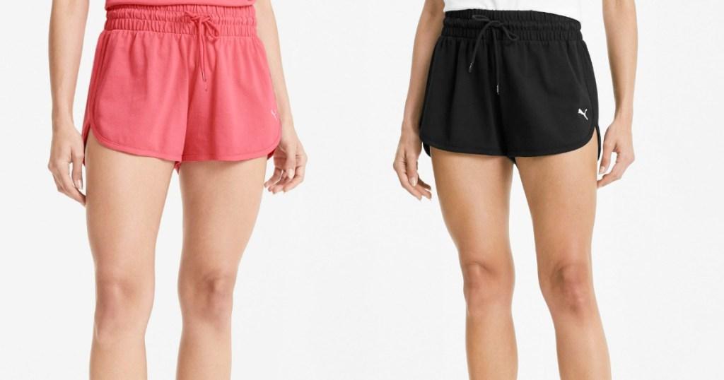 two women wearing PUMA shorts