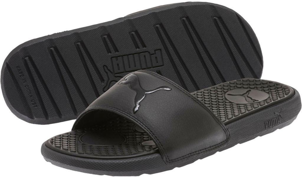 pair of PUMA sandals