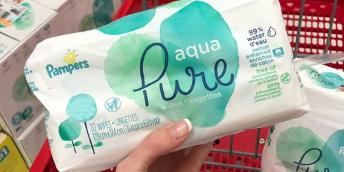 Pampers Aqua Pure Sensitive Baby Wipes 672-Count Just $15 on Amazon
