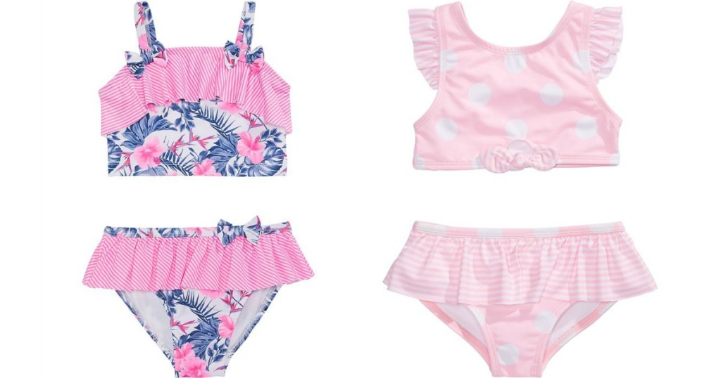 two girls 2-piece swimsuits