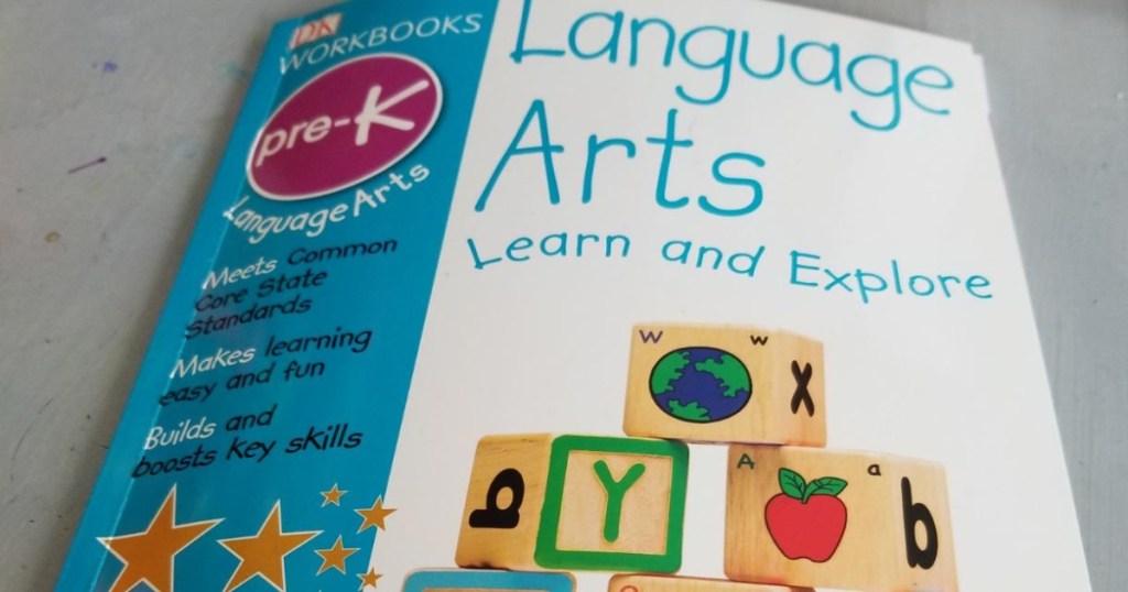 kids pre-k language arts workbook