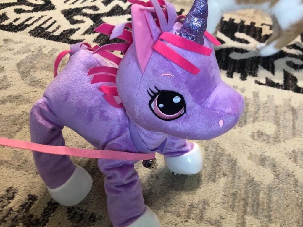 plush walking unicorn toy