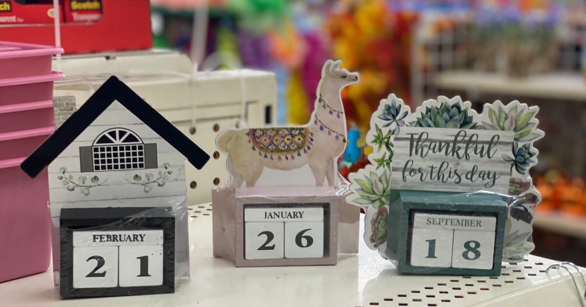 Perpetual Calendars Monthly Planners More Only 1 At Dollar Tree Hip2save