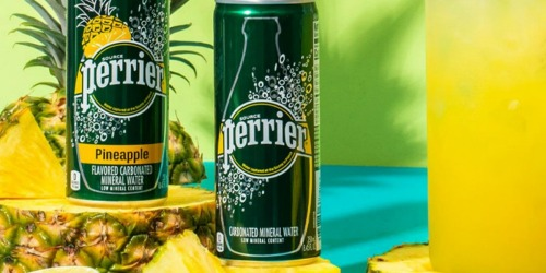 Perrier Carbonated Mineral Water Cans 30-Pack Only $11 Shipped on Amazon