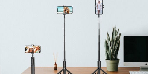 Bluetooth Selfie Stick and Tripod Only $18 Shipped on Amazon