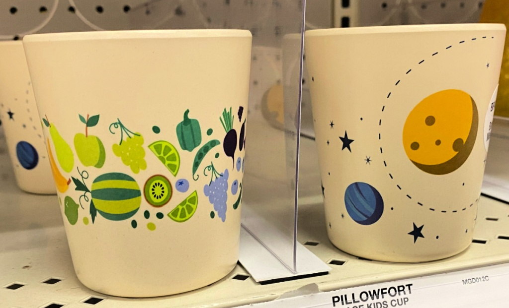 Pillowfort 10oz Bamboo and Melamine Kids Cups