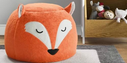Pillowfort Fox Pouf Only $17.49 on Target.com (Regularly $35)