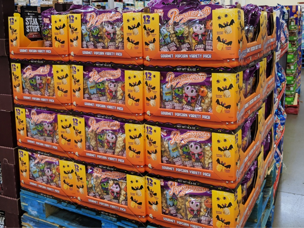 Popcornopolis 12-Count Halloween Snack Packs in Sam's Club
