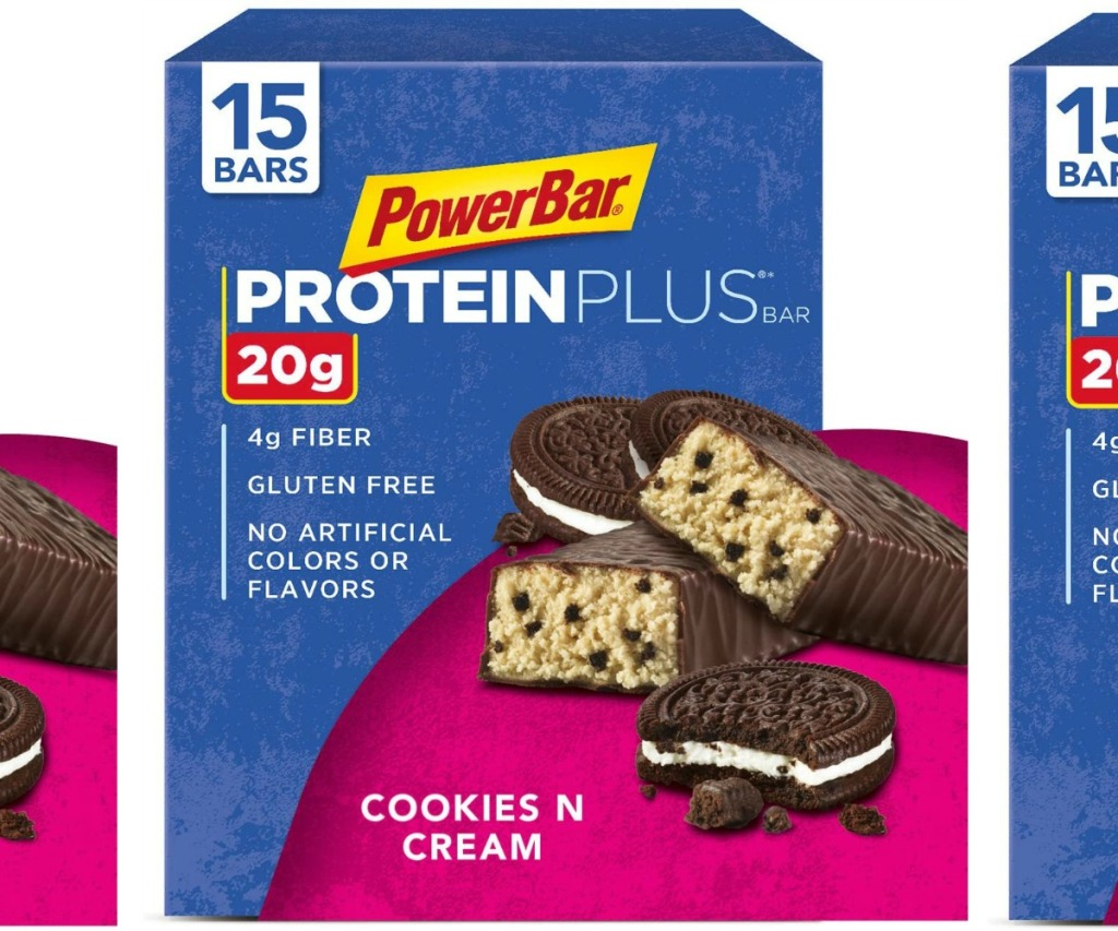 Large box of protein bars