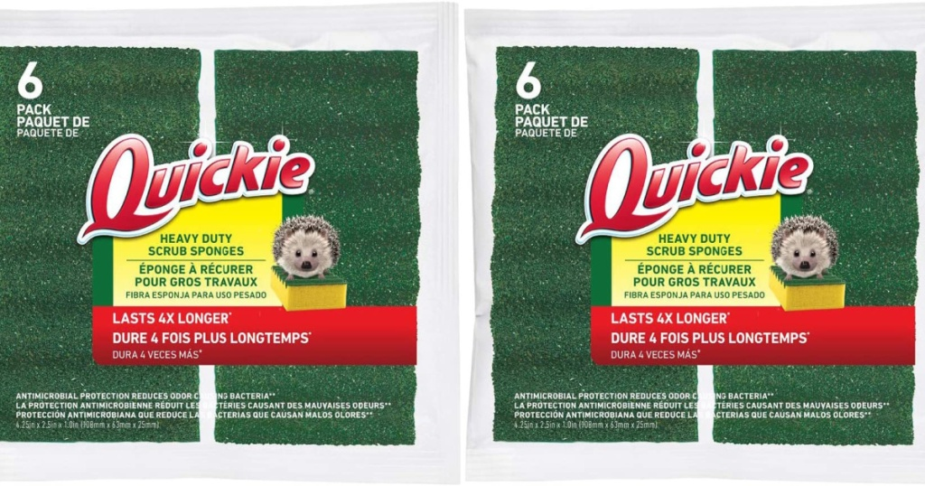 two packs of quickie long lasting sponges 6 pack