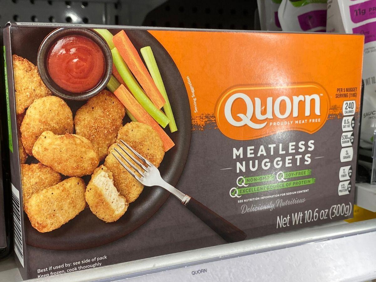 Box of meatless chicken patties